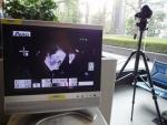 NEC本社に設置した赤外線サーモグラフィシステム、提供:NEC