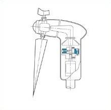 風力発電のブレードと発電機を結合するゴムカップリング