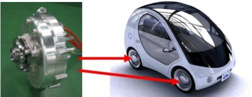 NTN「電動コミュータ用インホイールモータシステム」