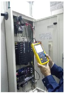 電力測定中の例