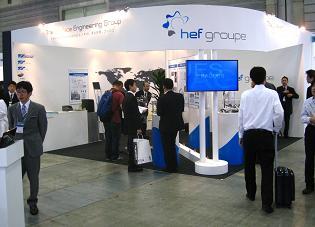 H.E.F Durferrit Japanとナノコート・ティーエスのブース