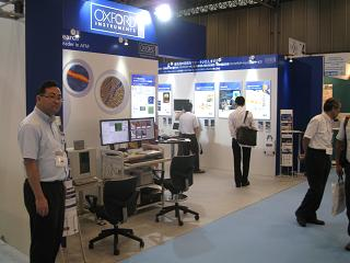 オミクロンナノテクノロジー ジャパンのブース
