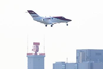 羽田空港に着陸したHondaJet