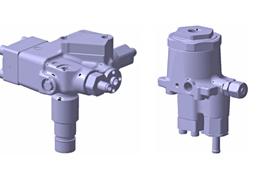 左:高圧水素供給バルブ、右:減圧弁